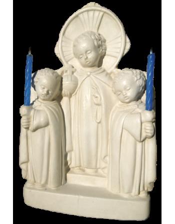 Bougeoir Jésus et anges