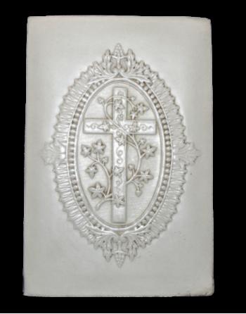 Bas-relief crucifix et vigne